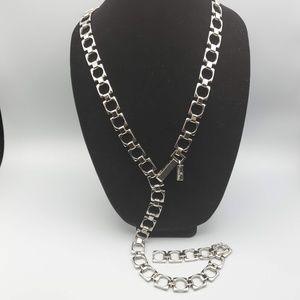 Calvin Klein Silver Square Chain Belt